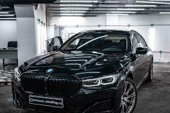 Антихром. Оклейка пленкой BMW 7