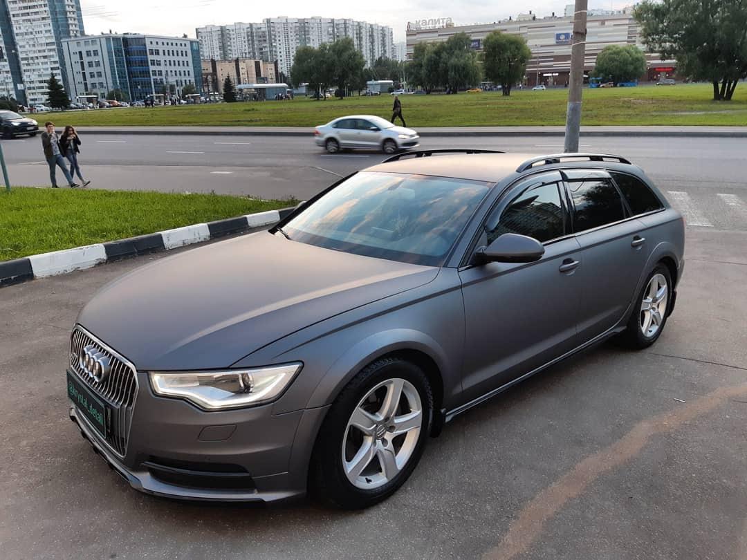 Audi после оклейки винилом
